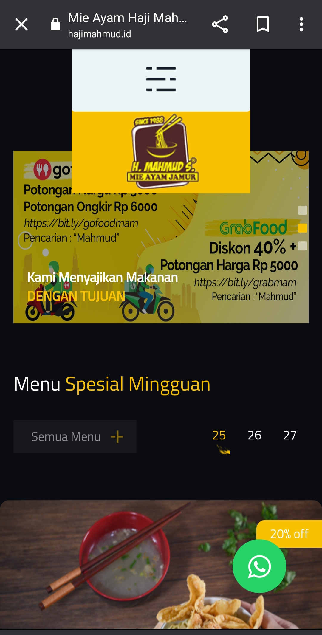 Mie Ayam Go Digital